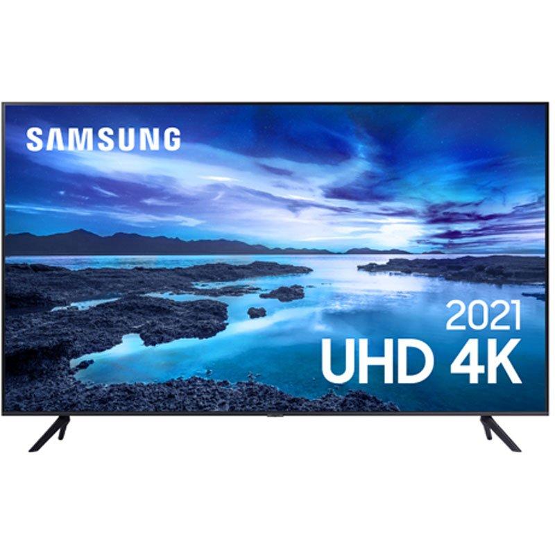 Samsung Smart TV 75 UHD 4K 75AU7700, Processador Crystal 4K, Tela sem limites, Visual Livre de Cabo