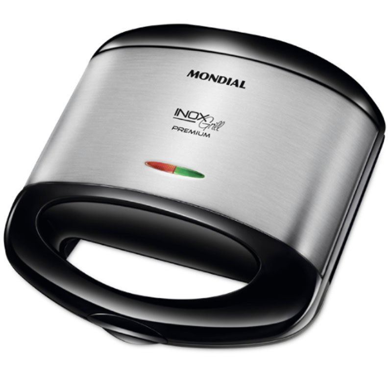 Sanduicheira E Grill Mondial Inox Premium Preto S 07 220V