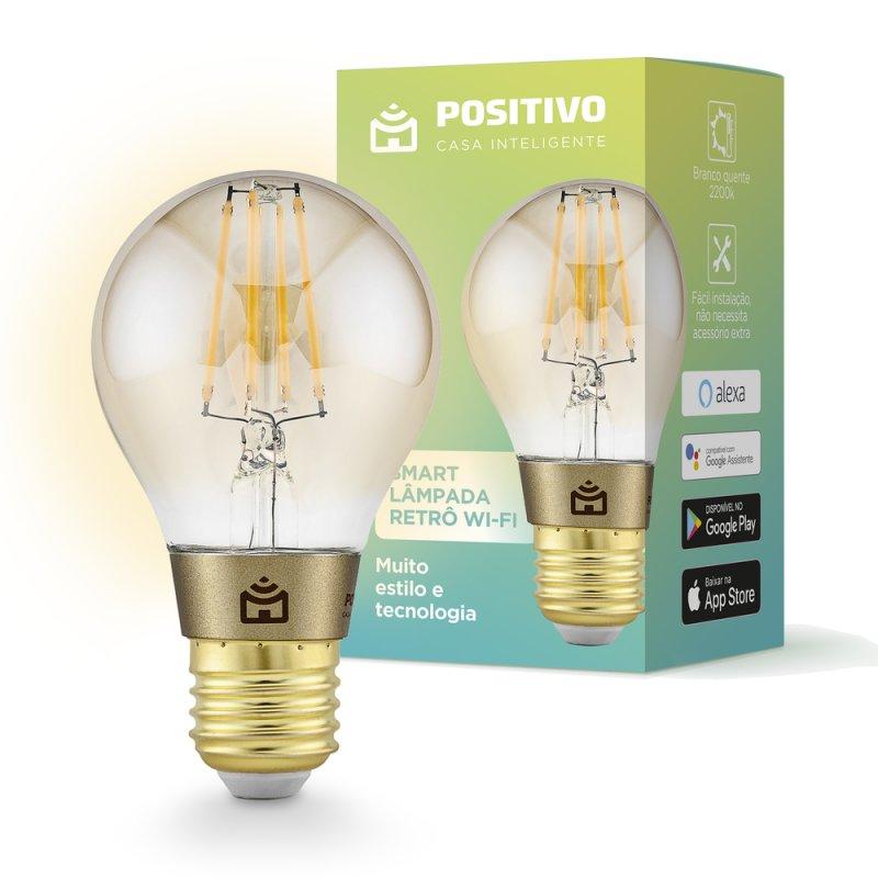 Lâmpada LED Inteligente Retrô Positivo Home Smart WIFI 7W Wi-Fi