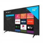 Smart TV AOC Roku 32 LED HD HDMI USB Miracast Roku Mobile Wi-fi Preto