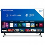 Smart TV Philips 43 PFG6825/78 HD sem Bordas HDR Plus 3 HDMI 2 USB Wifi Miracast Preta