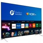Smart TV Philips 55PUG762578 4K UHD P5 HDR10 Bluetooth Wi-Fi 3 HDMI 2 USB Borda Ultrafina Preta