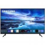 Samsung Smart TV 58 UHD 4K 58AU7700, Processador Crystal 4K, Tela sem limites, Visual Livre de Cabo