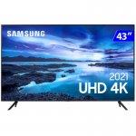 Smart TV Samsung LED 43 UN43AU7700GXZD 4K Wi-Fi Tizen Crystal UHD Preto