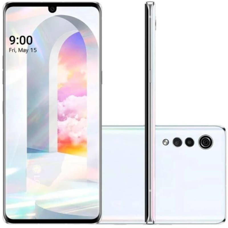 Smartphone LG Velvet Dual Chip Android 10 Tela 6.8 Octa-Core 128GB Câmera Tripla Aurora White