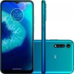 Smartphone Motorola Moto G8 Power LITE 64GB 4GB RAM Câmera Traseira Tripla Azul Aqua