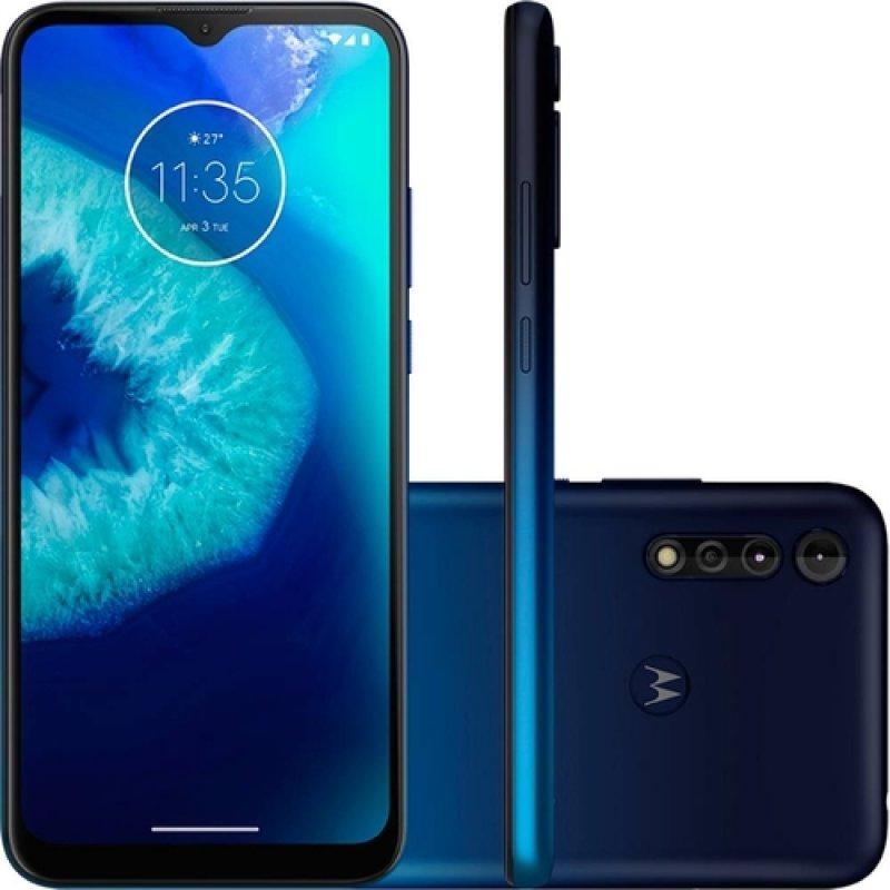 Smartphone Motorola Moto G8 Power LITE 64GB 4GB RAM Câmera Traseira Tripla Azul Navy