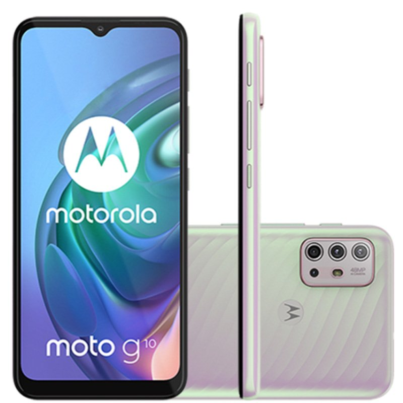 Smartphone Motorola MOTO G10 64GB Tela 6,5 Câmera 48 MP Branco Floral