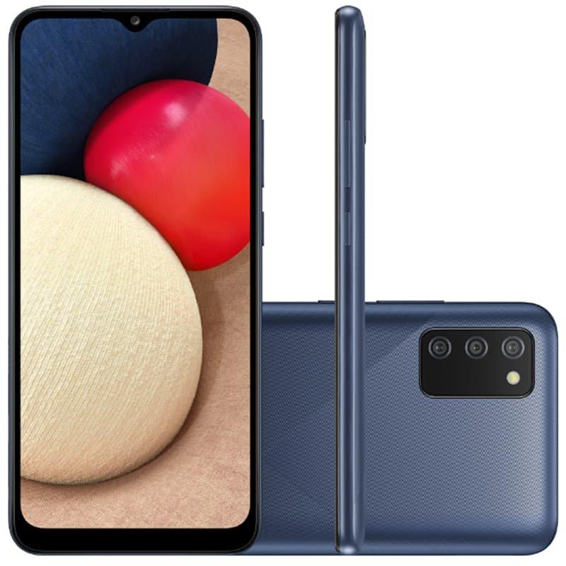 Smartphone Samsung Galaxy A02s Câmera Tripla de Tela Infinita de 6.5 32GB 3GB RAM Azul