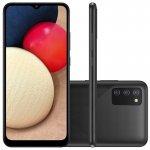 Smartphone Samsung Galaxy A02s Câmera Tripla de Tela Infinita de 6.5 32GB 3GB RAM Preto
