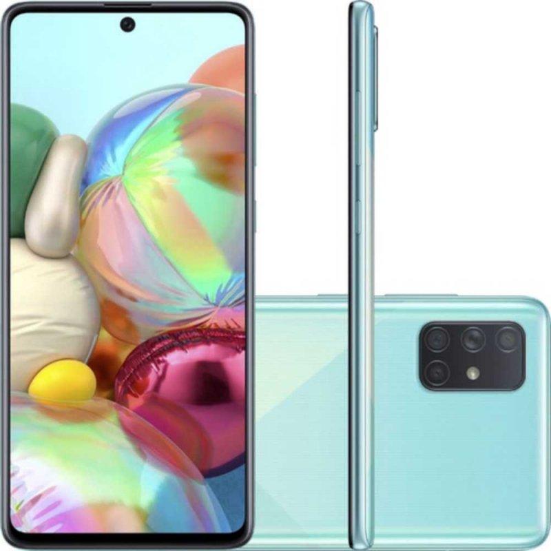 Smartphone Samsung Galaxy A71 6,7 Octa Core Dual Chip 6GB Ram 128GB Memória Câmera 64MP Azul
