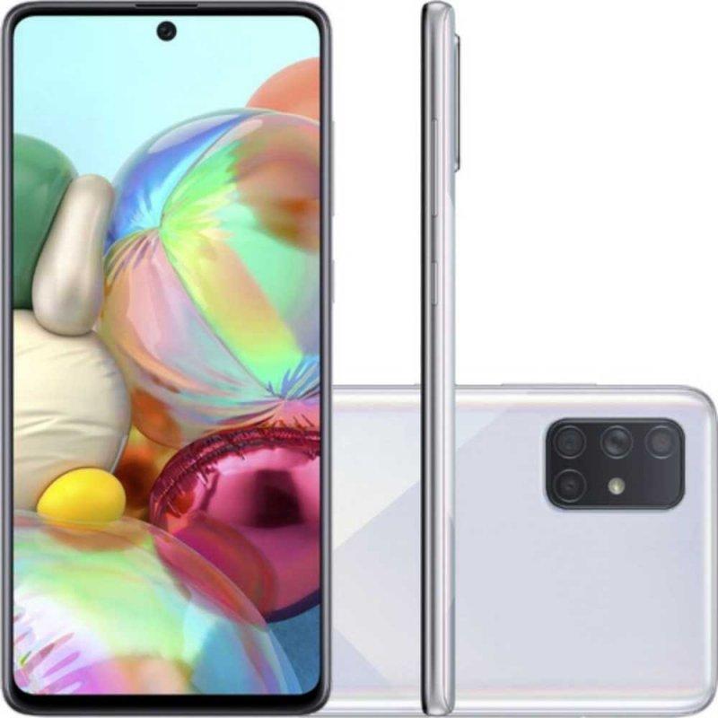 Smartphone Samsung Galaxy A71, Tela Infinita de 6.7 128GB 6GB RAM Prata