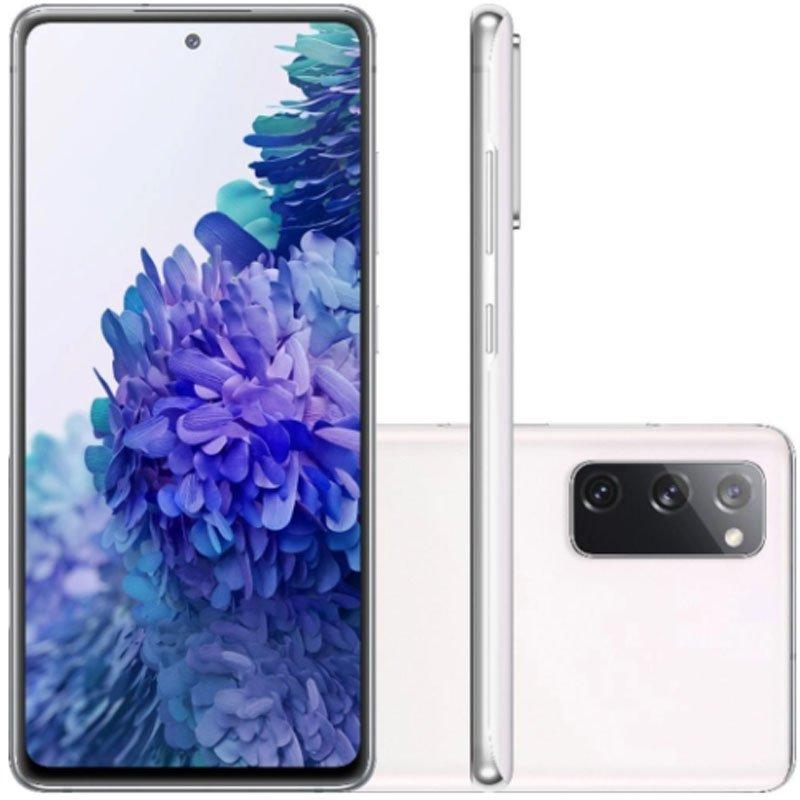Smartphone Samsung Galaxy S20 Fe 128GB 4G Tela 6.5 Dual Chip 6GB RAM Câmera Tripla Cloud White