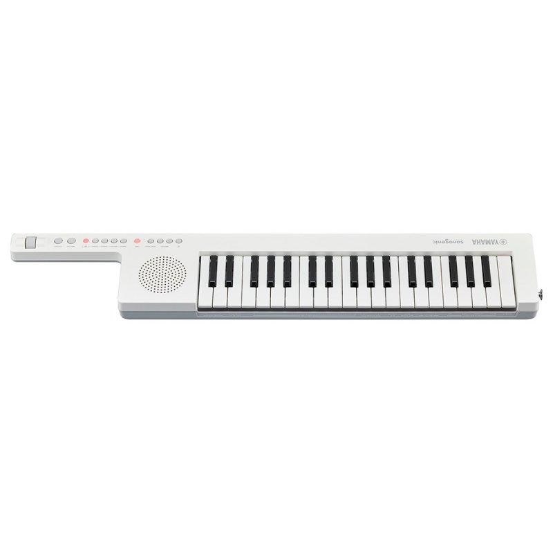 Teclado Eletrônico Leve e Portátil Keytar Yamaha com 37 Teclas SHS-300 Branco