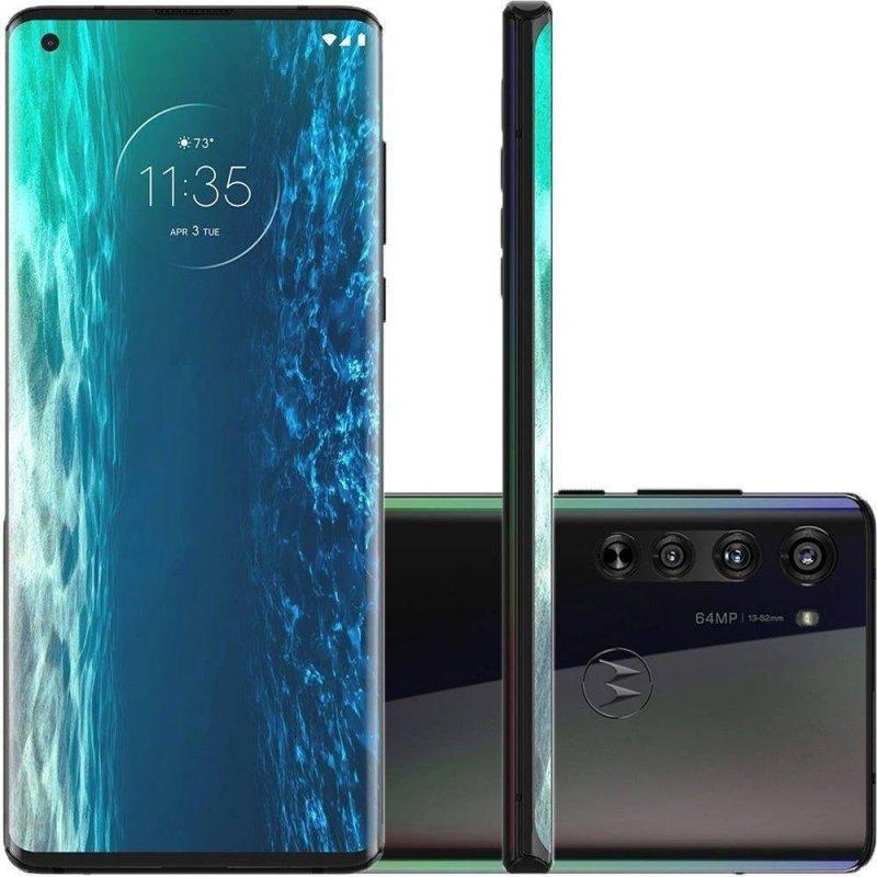 Smartphone Motorola Edge 6,7 XT2063-3 6GB Ram Câmera 64MP Qualcomm Snapdragon 765 Solar Black