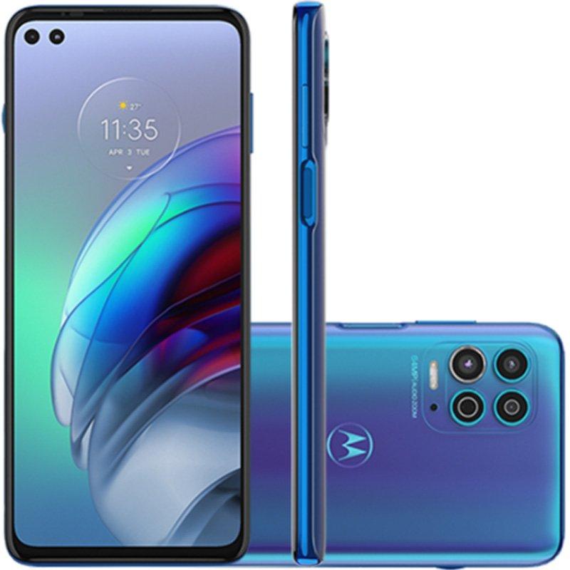 Smartphone Motorola G100 256GB Tela de 6,5 Câmera 64 MP Luminous Ocean
