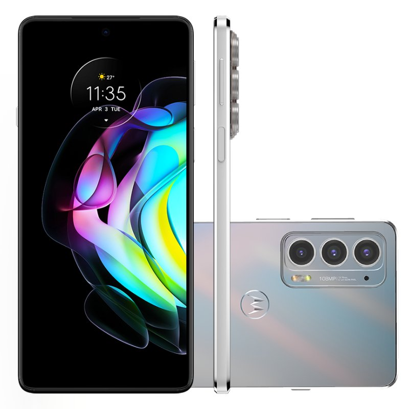 Smartphone Motorola Edge 20 Branco 128 GB 6.7 8 GB RAM Câm. Tripla 108 MP Selfie 32 MP