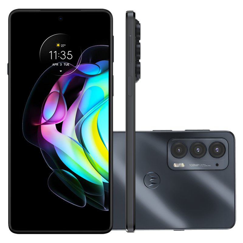 Smartphone Motorola Edge 20 Preto 128 GB 6.7 8 GB RAM Câm. Tripla 108 MP Selfie 32 MP