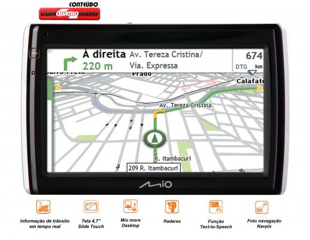 GPS MOOV SPIRIT S505 C/ TELA 4,7 E INFORMAÇÕES DE TRÂNSITO MIO