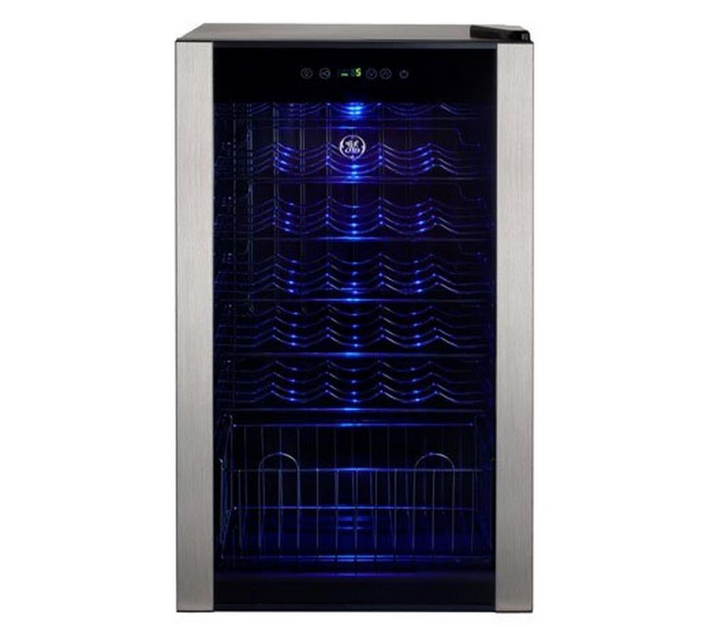 Adega de Vinhos GE / 34 Garrafas / Inox / 220V / Iluminação LED / 1 Compartimento