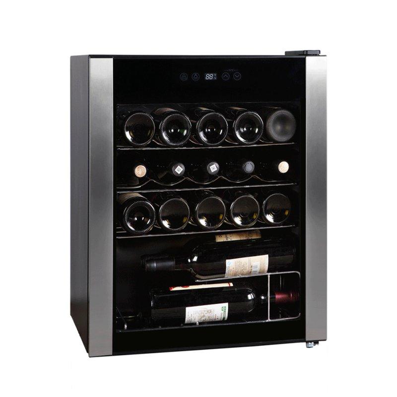 Adega de Vinhos EasyCooler Preta 220V com Compressor de 24 Garrafas de Capacidade