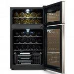 Adega de Vinhos Compressor Midea Preto 220V com Capacidade para 29 Garrafas