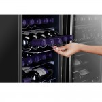 Adega 29 Garrafas 2 Portas Preta e Acabamento Inox Electrolux 127V (ACD29)
