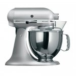 Batedeira KitchenAid Stand Mixer Artisan 127V Contour Silver de 4,83L e 275W
