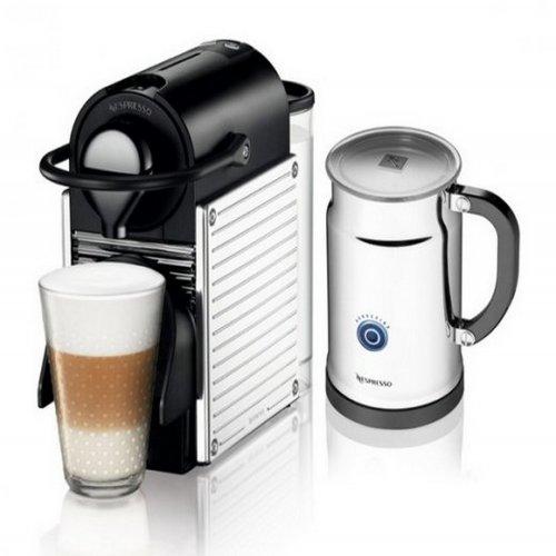 Combo Máquina de Café Nespresso Pixie Steel com Aeroccino / Cromada / 110V