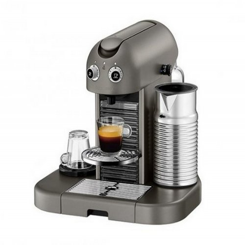 Máquina de Café Nespresso Gran Maestria 110V Titanium com Aeroccino
