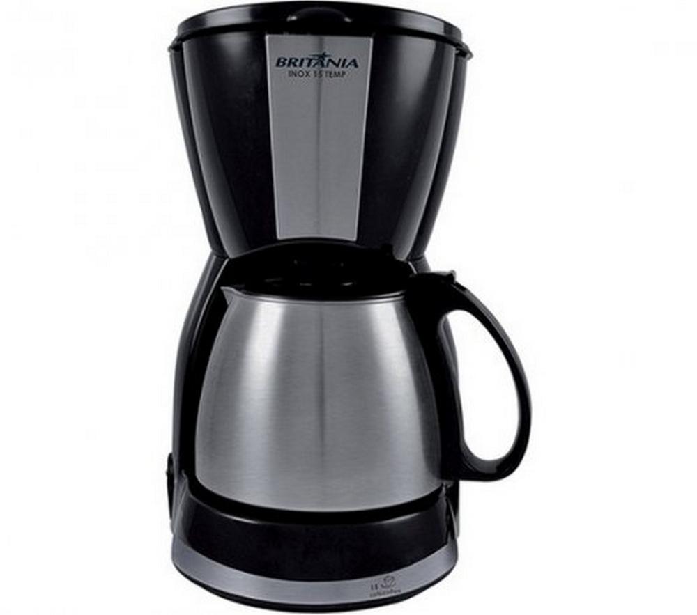 Cafeteira Elétrica Britania Inox 15 Temp / Preto / 15 Xícaras / 550W / 220V