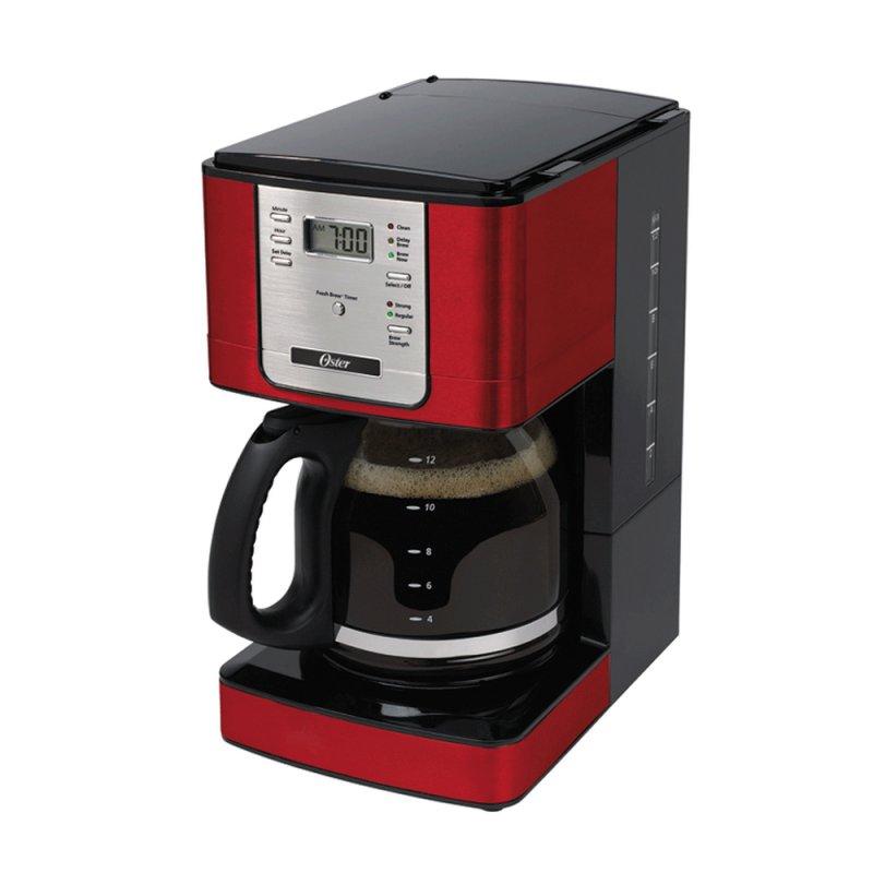 Cafeteira Oster Programável Flavor 220v Vermelha 1,8L com Filtro Permanente de Nylon