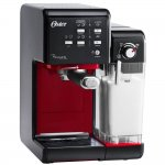 Cafeteira Oster Primalatte Evolution 127V Preta e Vermelha 1170W e 19 Bars de Pressão
