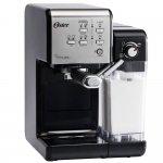 Cafeteira Oster Primalatte Evolution 220V Prata e Preta 1170W e 19 Bars de Pressão