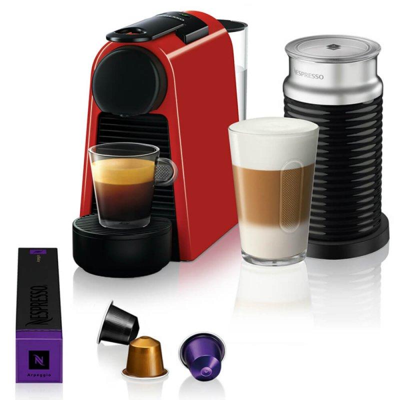 Máquina de Café Nespresso Essenza Mini D30 Vermelha com Aeroccino 3 127V