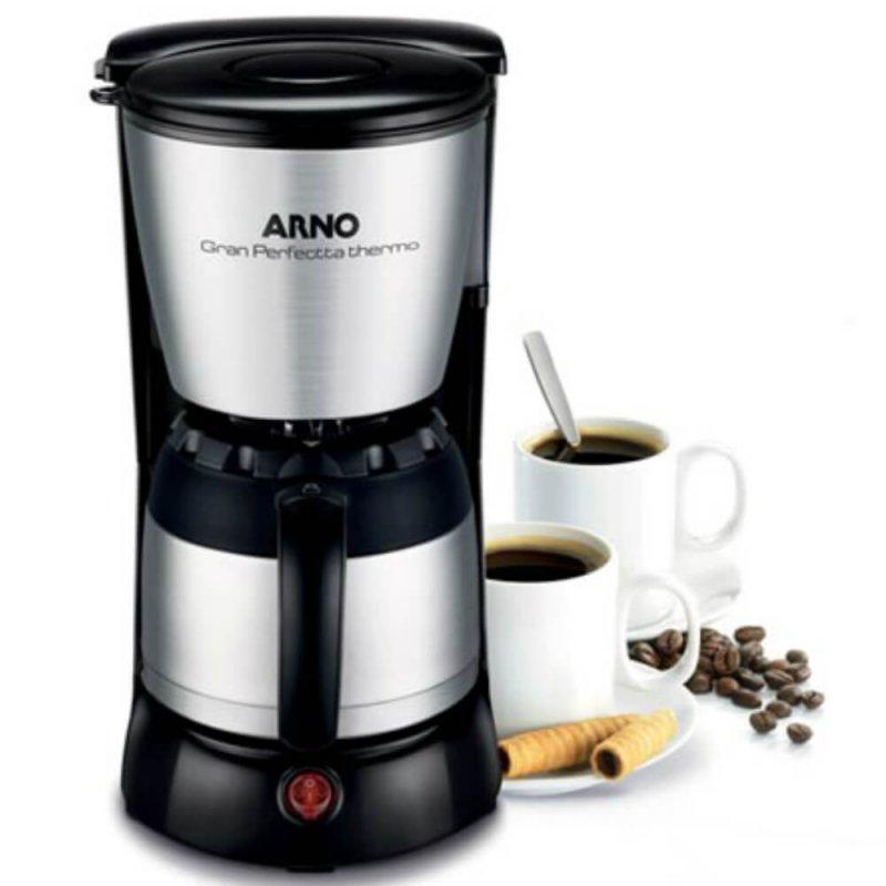 Cafeteira Arno Gran Perfectta Thermo 127V Preta Inox com Jarra Térmica Capacidade 24 Xícara
