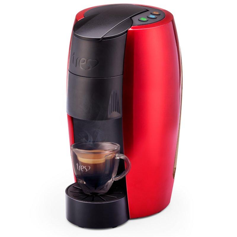 Cafeteira Espresso TRES, LOV, Vermelha, 110V, 3 Corações