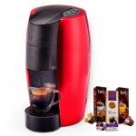 Máquina de Café Espresso TRES Lov Vermelha 127V Grátis 3 Caixas de Capsulas