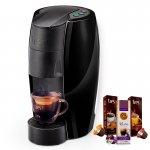 Máquina de Café Espresso TRES Lov Preto Brilhante 220V Grátis 3 Caixas de Capsulas