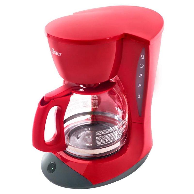 Cafeteira W12R Red Cuisine Oster Preta e Vermelha Bvstdcdw12r 017 127V