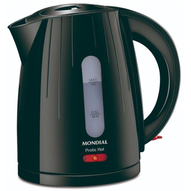 Chaleira elétrica Mondial Pratic Hot 1 litro Preta CE 07 127v