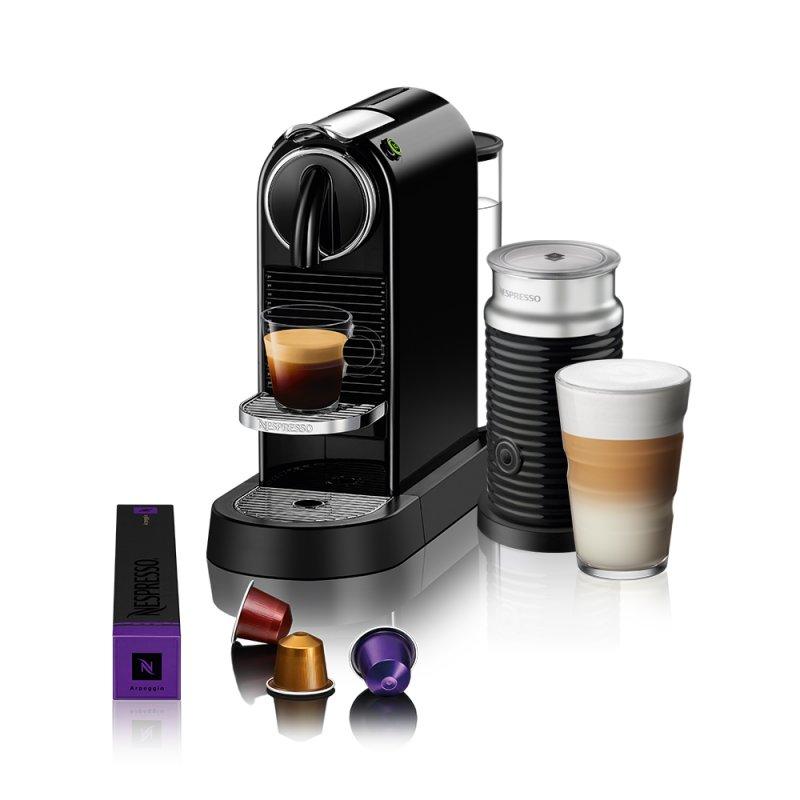 Máquina de Café Nespresso Citiz D113 Preto com Aeroccino 3 127V