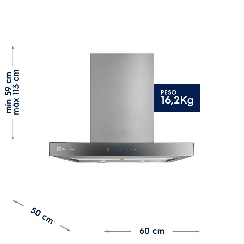Coifa de Parede Blue Touch Electrolux (60CTS)