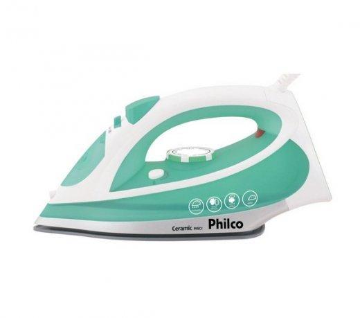 Ferro Philco Fe Ceramic PFEC1 / Verde / 1.200W / Seco e Vapor / Auto-Limpante / Cabo 1,8 m / 110V