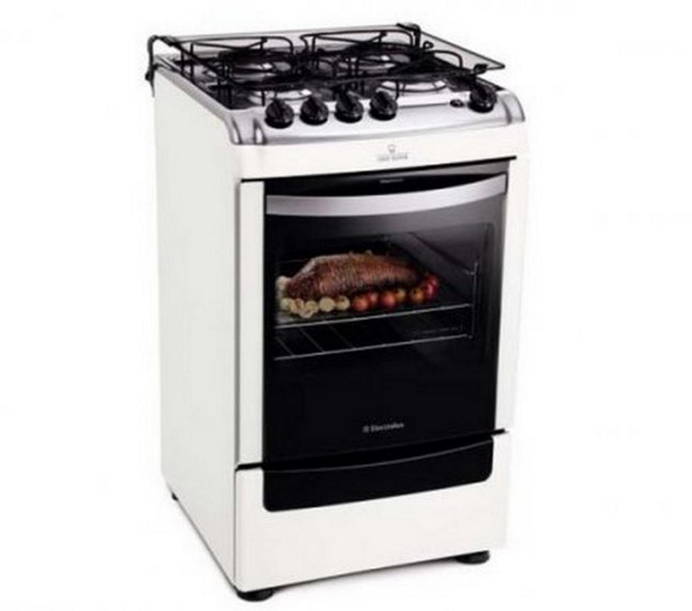 Fogão de Piso Electrolux Chef Super 52SB / Branco / Bivolt / 4 Bocas / Sistema Bloqueia Gás