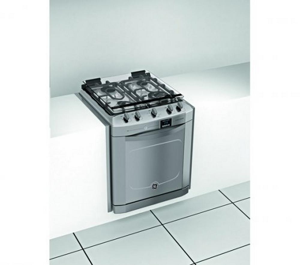 Fogão de Embutir GE Digital / Inox / 110V / 4 Bocas / Grill / Timer