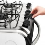 Fogão Electrolux 4 Bocas Automático com Forno de 70L Branco 52LBS Bivolt