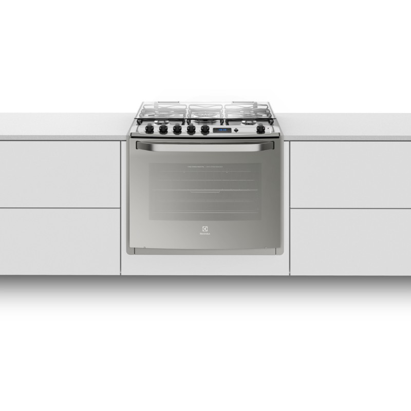 Fogão 5 Bocas de Embutir Electrolux Prata Automático com Grill e Timer Digital Bivolt (76EXR)