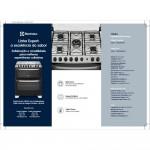 Fogão Electrolux 5 Bocas Automático com 2 Fornos e Tripla Chama Branco 76DBA Bivolt