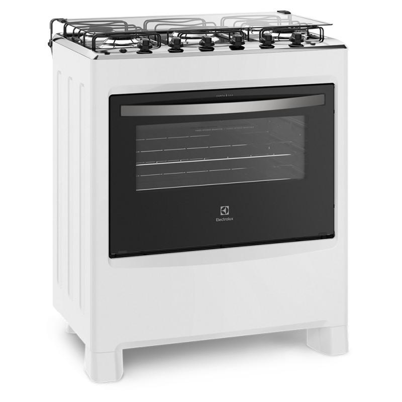 Fogão 5 Bocas Electrolux Branco Automático com Ultra Chama e Painel Completo Bivolt (76LBU)